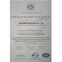 Zoomtak Electronics co., Ltd Certifications