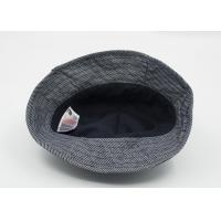 Quality Grey Cotton Adult Fisherman Bucket Hat / Cap With Raised Embroidery Logo for sale