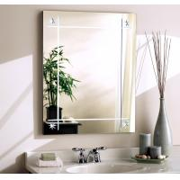 Wholesale Silver Wall Mount Bathroom Mirror With Lights / Clear Anti Steam Bathroom Mirror from china suppliers