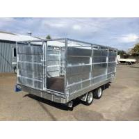 Wholesale Utility 8x5 Tandem Trailer With Cage , Cattle Stock Trailers Heavy Duty from china suppliers