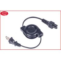 Wholesale Mickey Mouse Plug Retractable Charging Cable With USA Type Plug , Black from china suppliers