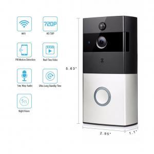 Wholesale Smart IR Wireless Video Door Phone 8-10 Month's Battery Life IR 720P WiFi Video Doorbell from china suppliers