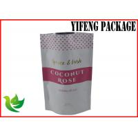 Wholesale Heat Sealable Stand Up Foil Food coconut Bag / Pouch Compound Logo Printing from china suppliers