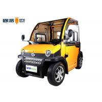 Wholesale Double Seat Mini Motorized Cars , New Energy Neighborhood Electric Car from china suppliers