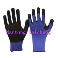 Quality Washable Purple Nitrile Work Gloves Comfortable 13 Gauge For Painting for sale