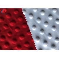 Wholesale 100% Polyester Minky Plush Fabric Embossed Soft Minky Dot Fabric For Baby from china suppliers