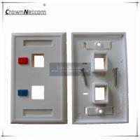 Wholesale 2 Ports Network US Type RJ45 Faceplates For Network Keystone Jacks ABS Face Plate from china suppliers