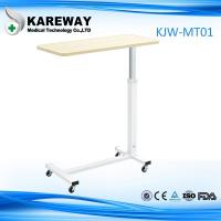 Quality Movable Wooden Tray Tables , Hospital Dining Table Match With Care Bed KJW-MT 01 for sale