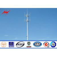 Wholesale Galvanized Self Supporting Lattice Tower , Telecommunication Antenna Mono Pole Tower from china suppliers