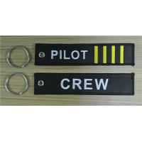 Wholesale Crew Pilot 4 bars Fabric Embroidery Pilot Key Chains from china suppliers