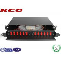Quality Drawer Fiber Optic Terminal Box Rack Mountable Patch Panel With FC adapter for sale