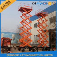 Wholesale Electric Hydraulic Lift Table , Mobile Aerial Work Lifting Platforms Equipment for Building Cleaning from china suppliers
