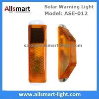Wholesale Amber Solar Road Guardrail Warning Light Construction Column Stroboscopic Lamp Stormlight Stack Taillight Obstacle Lamp from china suppliers