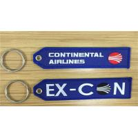 Wholesale Continental Airlines Ex-Con Fabric Embroidered Key Tags 13 x 2.8cm 100pcs lot from china suppliers
