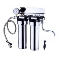 Wholesale Stainless Steel Countertop Water Filter 2 Stage , 5L / Minute Flow Rate Ss Water Filter from china suppliers