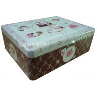 Wholesale Metal Square Tin Box For Cup Cake Biscuit Storage from china suppliers