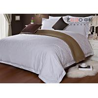 Wholesale Ripple Satin Design Hotel White Bed Linen 100 Cotton OEM / ODM Available from china suppliers