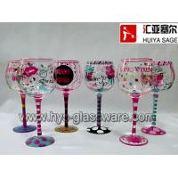 Buy cheap Set of 6 wine glasses,multi designs, wine diva from wholesalers