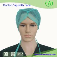 Wholesale Disposable Nonwoven Doctor Cap with Lace/Bouffant Cap/Surgical Cap/Doctor Cap/Nursing Cap from china suppliers