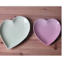 Wholesale Bone China stuff holder pink green heart-shaped from china suppliers