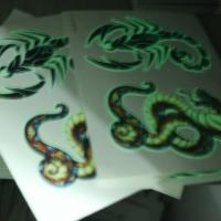 Wholesale UV Blacklight Glow In The Dark Face Tattoos Temporary Non Permanent from china suppliers