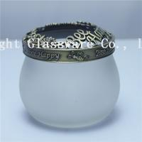 Quality Luxury design glass yankee candle jars lids, jar metal lids sale for sale