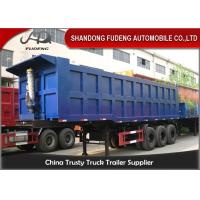 Wholesale Heavy Duty Utility Semi Dump Trailers 3 X 14 Tons Axle HYVA Fuel Tank from china suppliers