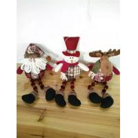 Wholesale Christmas decor and gifts hanging santa claus With plush reindeer from china suppliers