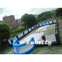 Wholesale 20mLX10mWX3mH Inflatable Human Soccer Field / Human Table Soccer Field from china suppliers