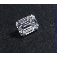 Wholesale Lab Created Clear 1.5 Carat Moissanite Gemstones / Diamonds Moissanite Emeraldt Cut from china suppliers