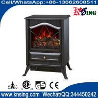 Wholesale resin logset electric fireplace heater log burning flame effect antique electric stove ND-18D2P cheap space heater from china suppliers