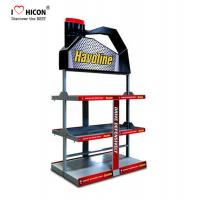 Wholesale Floorstanding Metal 3 - Layer Car Lubricating Oil Display Rack For Automotive Shops from china suppliers