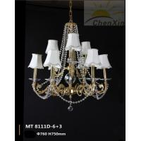 Wholesale Lobby Chandelier Pendant Lights With Crystal Chain Fabric Lamp Shaded from china suppliers