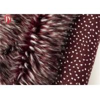 Wholesale Wine Red Fake Fur Fabric , Ostrich Feathers Light Brown Faux Fur Animal Jacquard from china suppliers