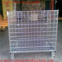 Wholesale Hot-dipped galvanized metal storage containers/wire mesh security cages/security cages for storage from china suppliers