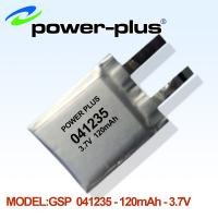 Wholesale Li-polymer battery 041235 with 3.7V high capacity 120mAh from china suppliers