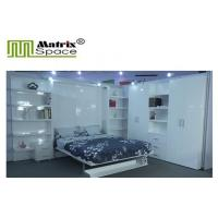 Quality Double Wall bed Vertical Open With Boolshelf , White Color , E1 Grade Material for sale