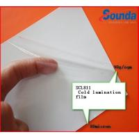 Wholesale Transparent Vinyl Self Adhesive Cold Laminate Sheets with PE Coated Silicon Paper from china suppliers