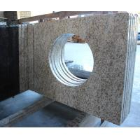 Wholesale Thailand Golden Seasame Granite Bathroom Vanity Tops with Sink for Commercial hotal project from china suppliers