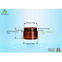 Wholesale 40ml PET Cylinder Wide Mouth Jar With Aluminum Cap For Hand Cream from china suppliers