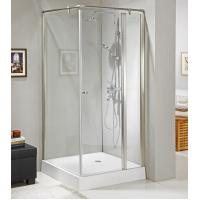 Wholesale Aluminum axis tempered glass bathroom shower enclosure with S.S. knob and fixed bar from china suppliers
