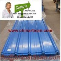China colored corrugated steel sheet for roofing MODEL NO.: YX28-205-820 on sale