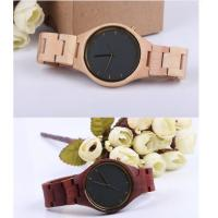 Fashion Charming Bewell Mens Wooden Watch 100% Natural Wood With Miyota 2035