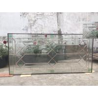 Wholesale Custom Wooden DoorGlass , Theft Proof Bevel Translucent Glass Panels from china suppliers