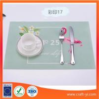 Wholesale Restaurant Placemats table mate in Textilene fabric in printing from china suppliers