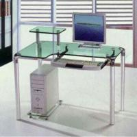 Wholesale Computer Desk with 10mm Tempered Glass and Aluminum Tubes, Measures 1,000 x 600 x 750mm from china suppliers