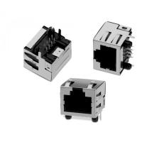 Wholesale Shielded Right Angle RJ45 Telephone Modular Jack Metal SY013-8-1 RJ45 Short Body from china suppliers