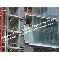 Quality Structural Aluminum Framed Glass Façade Unitized Curtain Wall System with Low-E Coating Film Insulation for sale