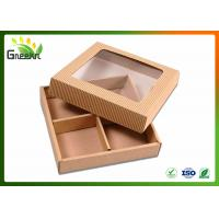 Wholesale Corrugated Custom Gift Boxes for Handmade Soap with Clear Window from china suppliers
