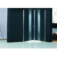 Wholesale Round Profile Two Pivot Door Shower Enclosures Curved Shower Glass Enclosure from china suppliers